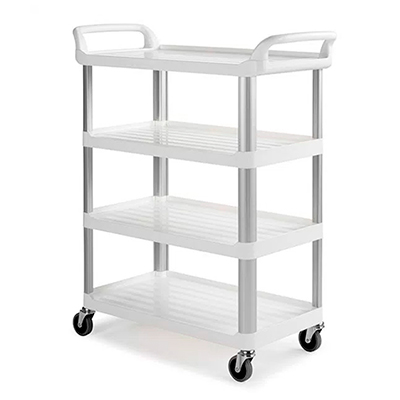 CARRO SHELF BLANCO CON 4 ESTANTES